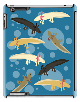 Axolotl Pattern for Ipad by Kristina S