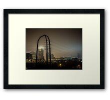 Power Foggy City Framed Print