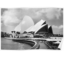 Sydney Opera House in Black & White Poster