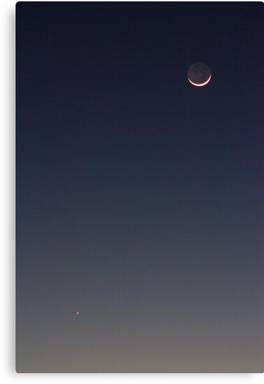 The Moon & Mercury by Daniel Owens