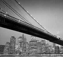 Brooklyn Bridge, Study 6 by Randy  LeMoine