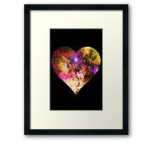 Galaxy Heart Tee One Framed Print