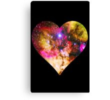 Galaxy Heart Tee One Canvas Print