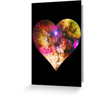 Galaxy Heart Tee One Greeting Card