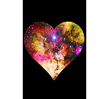 Galaxy Heart Tee One Photographic Print