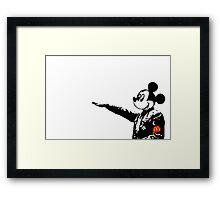 Mickey McHitler Framed Print