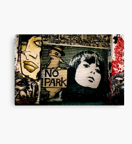 Graffiti Lane Canvas Print