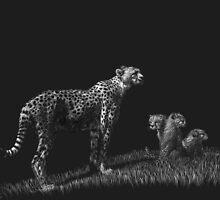 Guarding the Future - cheetahs by Heather Ward