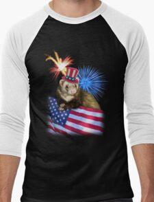 Patriotic Ferrot Men's Baseball ¾ T-Shirt