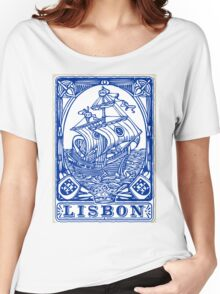 Lisbon Traditional Tiles Azulejos Women's Relaxed Fit T-Shirt