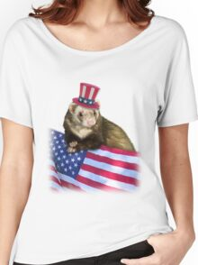 Patriotic Ferrot Women's Relaxed Fit T-Shirt
