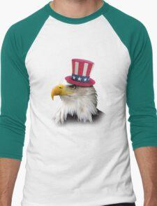 Patriotic Eagle Men's Baseball ¾ T-Shirt