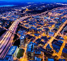 Twilight over Southeast Seattle  by Jim Stiles