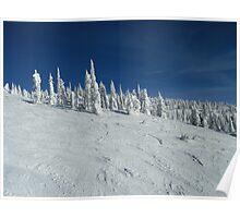 Big White Snow Monster Poster