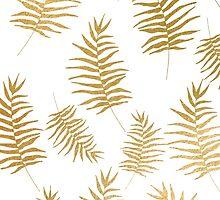 Gold ferns pattern by dairinne