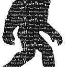 Bigfoot Sasquatch Yeti Yowie Skunk Ape Grassman Yaren by klh0853