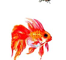 goldfish and cicada iPhone case by HiddenStash