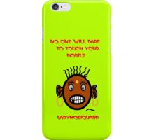 Angry Lady will Guard your iphone and ipad iPhone Case/Skin