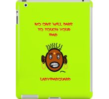 Angry Lady will Guard your iphone and ipad iPad Case/Skin