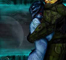 Cortana & Master Chief by Queen Geek
