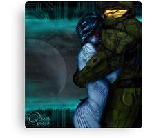 Cortana & Master Chief Canvas Print