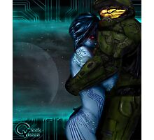 Cortana & Master Chief Photographic Print