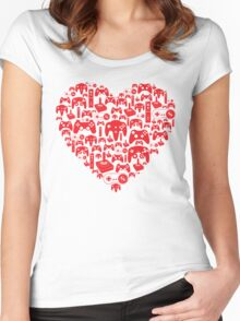 Gaming Love Women's Fitted Scoop T-Shirt
