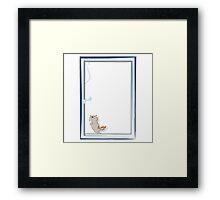 Happy kitten Framed Print
