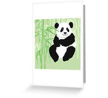 Green panda Greeting Card