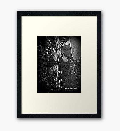 Rock Guitarist Framed Print