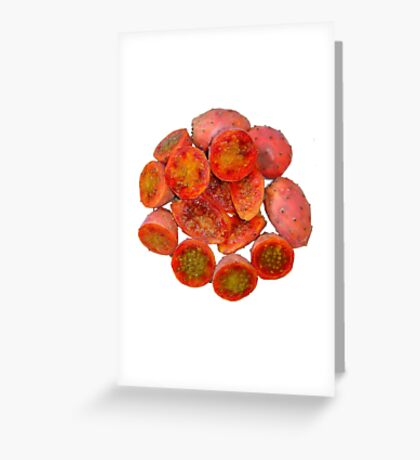 Tropical Red Prickly Pear Fruit  Greeting Card