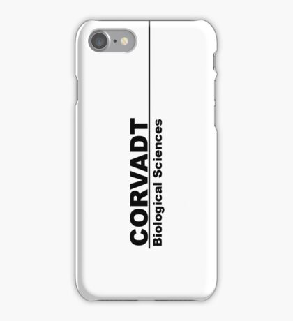 Corvadt Biological Sciences - Utopia (black) iPhone Case/Skin