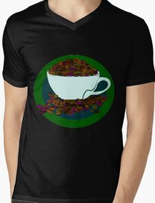 Bean-Addict! Mens V-Neck T-Shirt