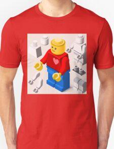 Toy Block Man Games Isometric T-Shirt