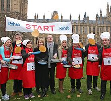 Parliamentary Pancake Race Media Team 2013 by Keith Larby