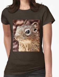 Wild nature - squirrel Womens Fitted T-Shirt
