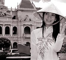 A Saigon beauty in Ao dai by Peter Evans