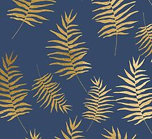Gold botanical pattern by dairinne