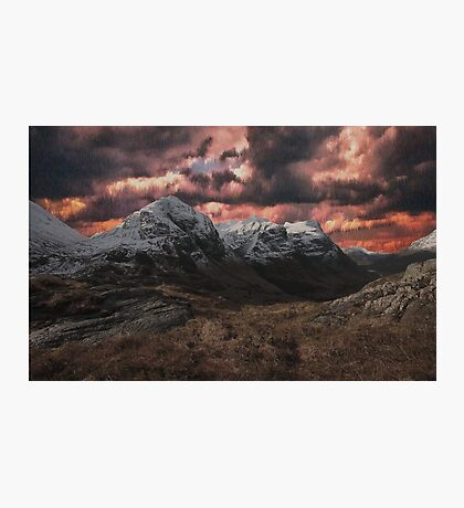Distorted Mountains Photographic Print