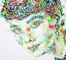 AUDREY HEPBURN - watercolor portrait.1 by lautir