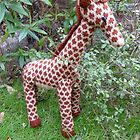 Hand Knitted toy Giraffe by mrsmcvitty