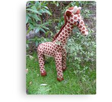 Hand Knitted toy Giraffe Canvas Print