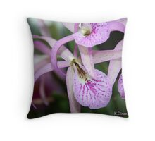 Longwood Gardens Orchid Throw Pillow