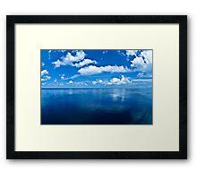 Over a Blue Horizon Framed Print