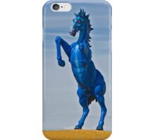 Crazy Blue Red Eyed Horse iPhone Case/Skin
