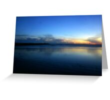 Evening Blues Greeting Card