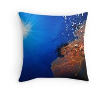 Sun over The Reef Throw Pillow