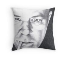 Mark - Smoke and Light Throw Pillow