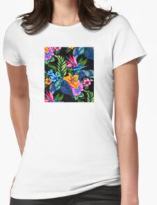 Lets Go Abstract Womens Fitted T-Shirt