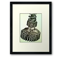 'Mechanics' Ink Observational Framed Print